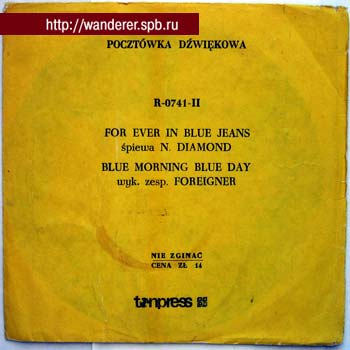 FOREIGNER, Neil DIAMOND - Blue Morning Blue Day/For Ever In Blue Jeans