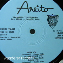 VALDES,Chucho - Tema de chaka quinteto NO COVER, RECORD ONLY WITHOUT COVER