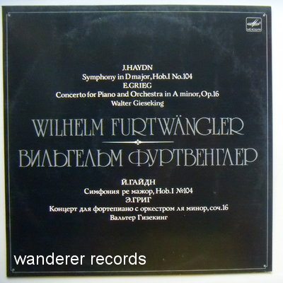 FURTWANGLER,Wilhelm - Haydn Symphony in D major, Grieg Concerto for piano & Orchestra in A minor.