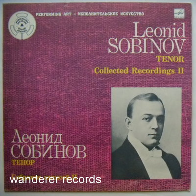 SOBINOV - Collected recordings II, 1901-1908