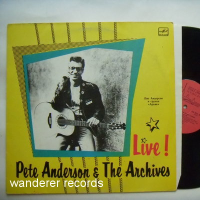 ANDERSON,Pete & THE ARCHIVES - Live!