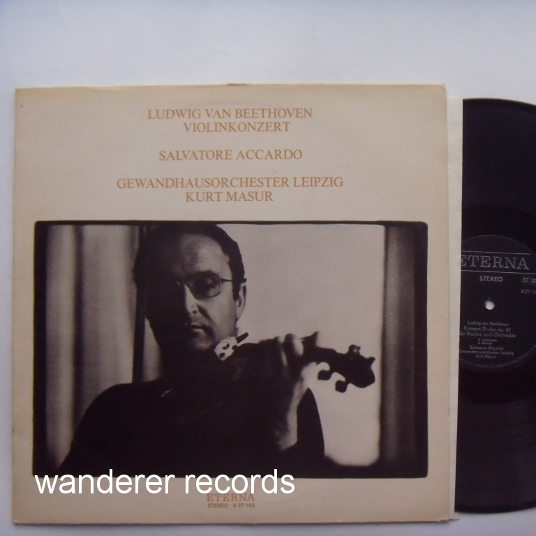 Salvatore ACCARDO, Kurt MASUR - Beethoven violin concerto D major op. 61