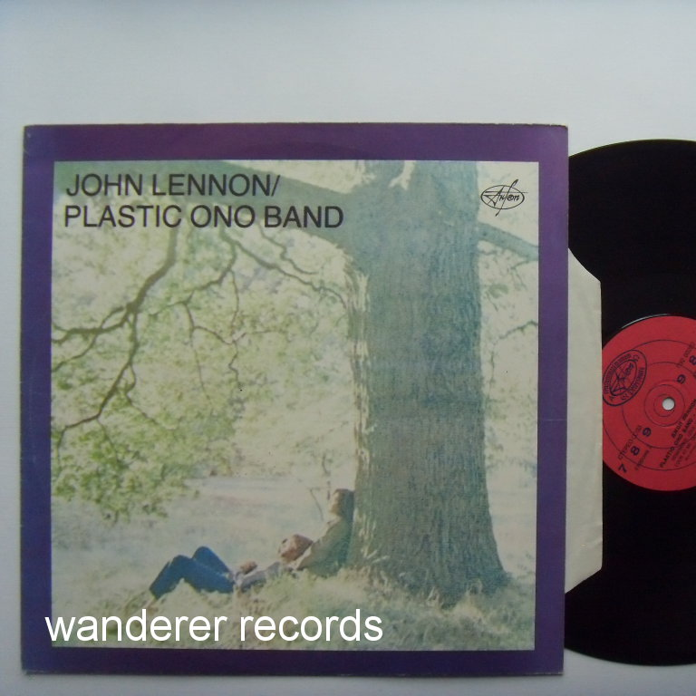 LENNON,John - Plastic Ono Band. Dark blue color cover, red label