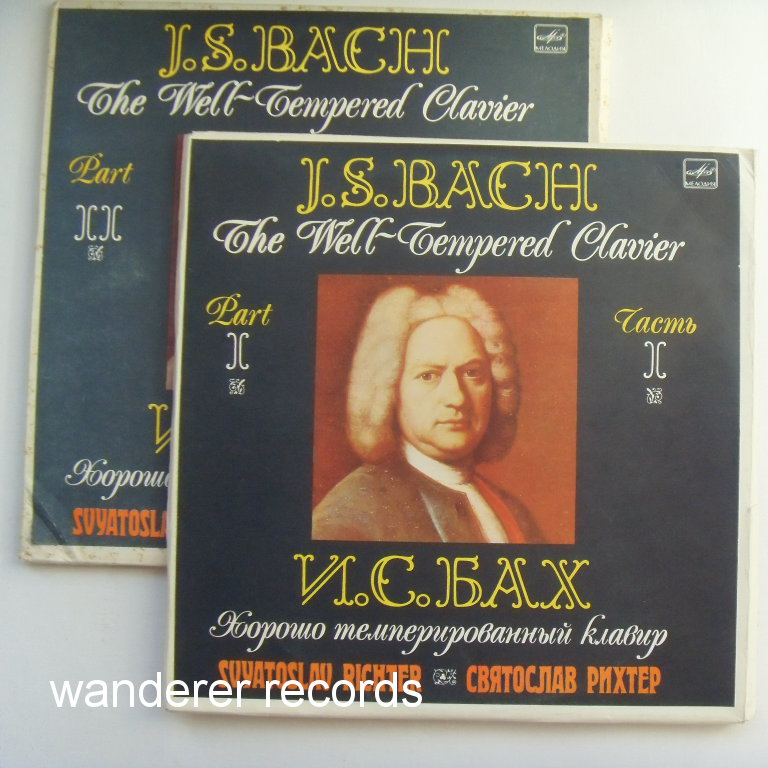 RICHTER - Bach Well-Tempered Clavier Two box sets 6LP