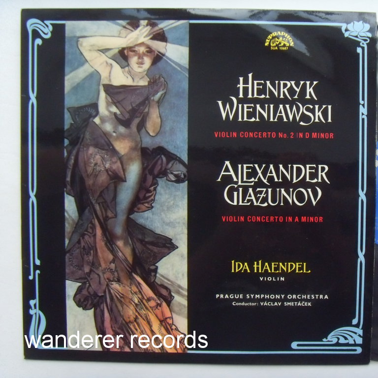 Ida HAENDEL violin - Wieniawski violin concerto No.2 in D minor, Glazunov MINT LIKE NEW