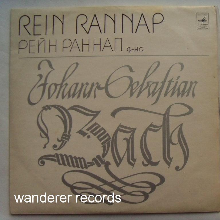 REIN RANNAP - Bach Partita BWV 828, Capriccio BWV 992 - LP