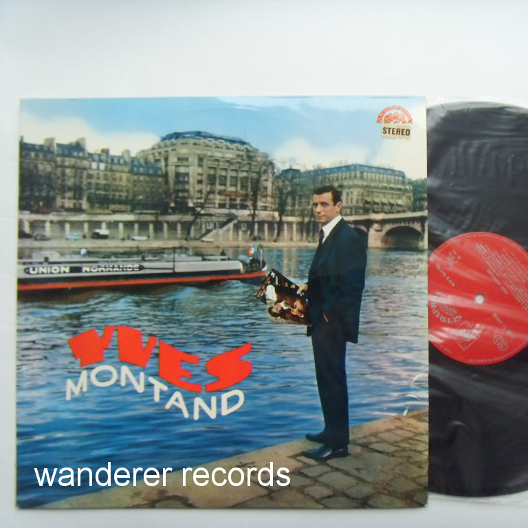Yves MONTAND - Yves Montand Rare 1960s Czech LP