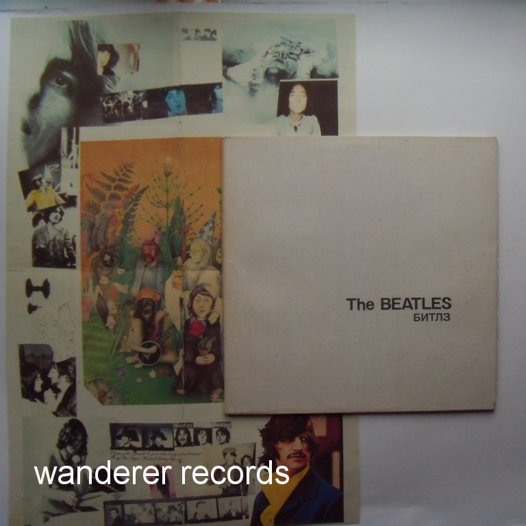 THE BEATLES - The Beatles - White Album 2LP RARE WITH DIFFERENT POSTER