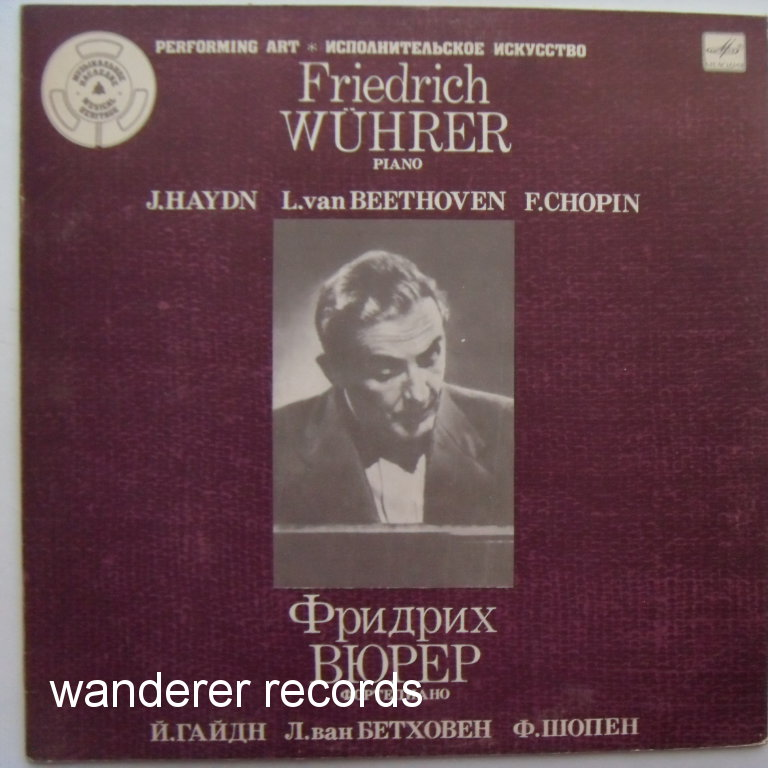 Friedrich WUHRER - 1944 Haydn Andante and Variations, Beethoven 3 bagatelles, 6 variations, Chopin Etudes