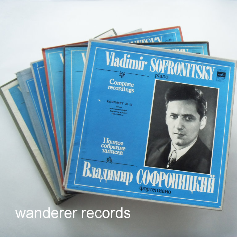 SOFRONITSKY - Complete recordings Vol. 5, 6, 7, 8, 9, 12 - 6 box sets, 33LP